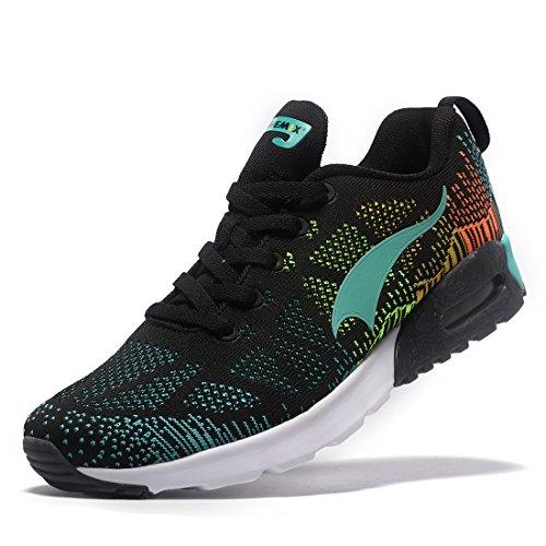 Homme Femme Sneakers Athlétique Respirantes Running Chaussures Basket Sport ONEMIX Fitness Courtes de Noir 2 4xwRCqXp