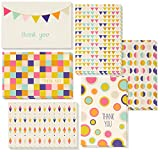 Best Paper Greeting Thank You Cards - 48-Count Thank You Notes, Bulk Thank You Cards Set - Blank on the Inside, Unique Retro Geometric Design - Includes Thank You Cards and Envelopes, 4 x 6 Inches