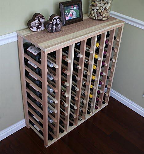 Creekside 56 Bottle Table Wine Rack Redwood