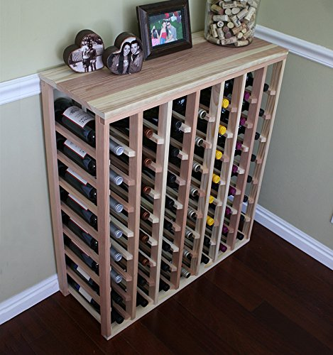 Creekside 56 Bottle Table Wine Rack (Redwood) by Creekside - Exclusive 12 inch deep design conceals entire wine bottles. Hand-sanded to perfection!, Redwood