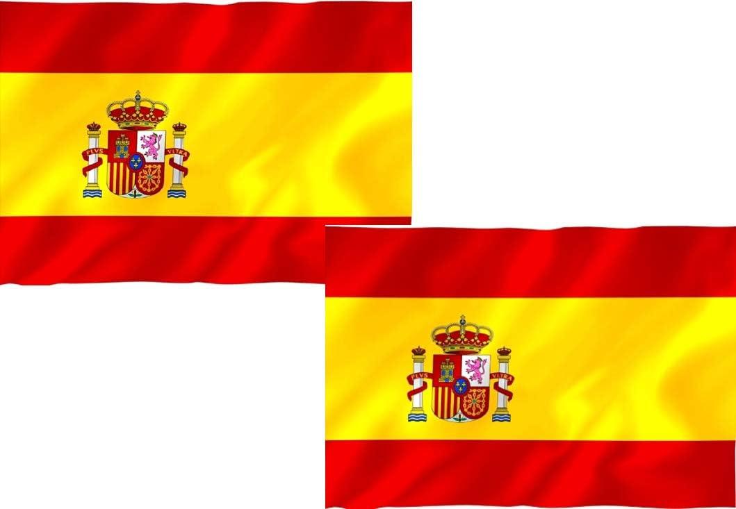 Hogaltia Bandera España Grande X2, Ideal para Exteriores 150 x 90 ...