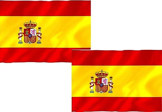 Hogaltia Bandera España Grande X2, Ideal para Exteriores 150 x 90 cm: Amazon.es: Jardín
