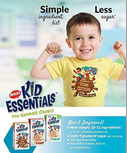 Boost Kid Essentials 1.0 Cal, Strawberry Splash 1 Cal, 8 Ounce, by Nestle - Case of 27