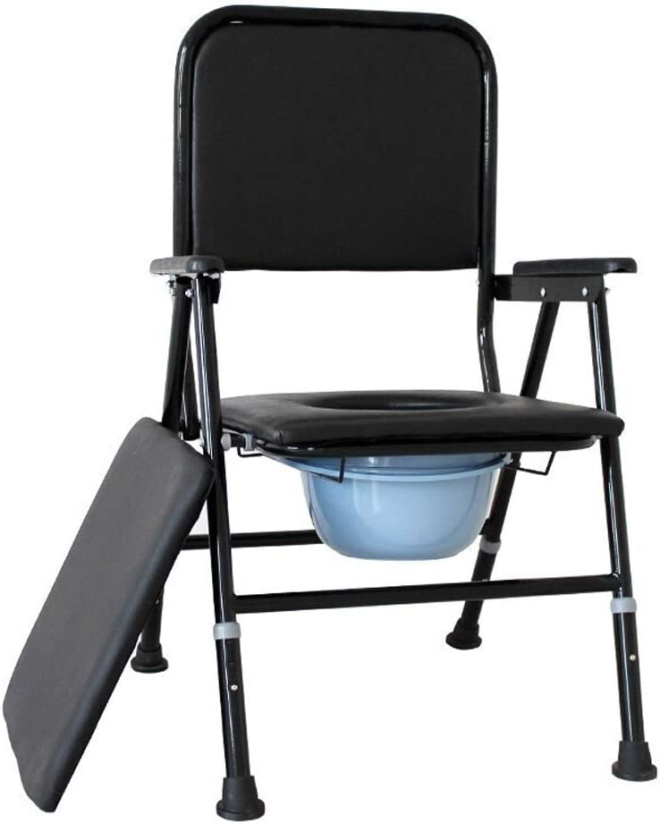 Robusto sencilla la función multi for no Slip Silla WC silla ligera plegable desmontable for ir al baño inodoro portátil Mayores forma ergonómica for discapacitados en silla de ruedas for minusválidos