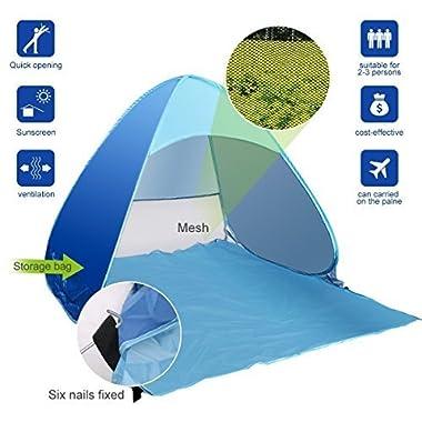 e-joy Outdoor Portable Cabana Beach Tent, Blue