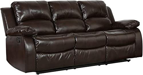 Blackjack Furniture 9393 Portico Collection 2 Leather Air Mid Century Modern Living Room Reclining