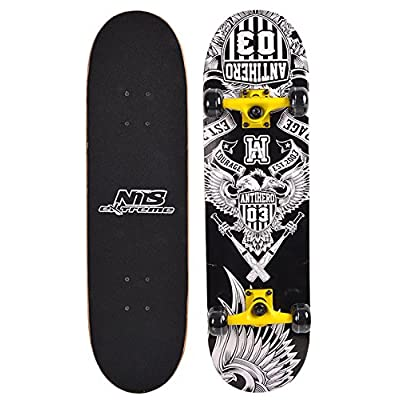 Skateboard Nils Extreme Anti Hero 78 x 20 cm Érable canadien ABEC 5