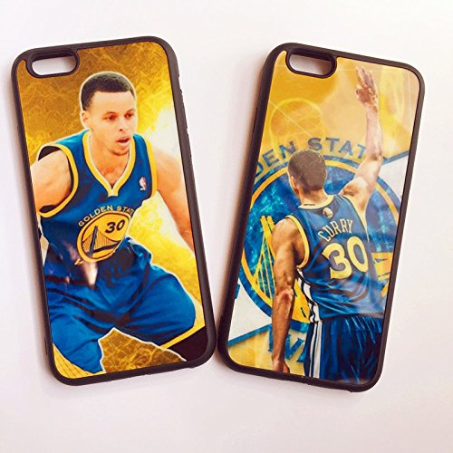 2 Pcs Pack iPhone 6 and 6S Curry Case,Premium TPU Quality 3-Point Shooter Curry Cover. Shockproof Resistant Case for iPhone 6 and 6S Case 4.7 Inch. (Golden Yellow/Black) by Lanyard Home