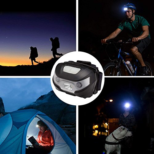 LE Rechargeable LED Headlamp, 5 Lighting Modes, Lightweight Headlight for Outdoor, Camping, Running, Hiking, Reading and more, USB Cable Included, Pack of 3 by Lighting EVER (Image #5)
