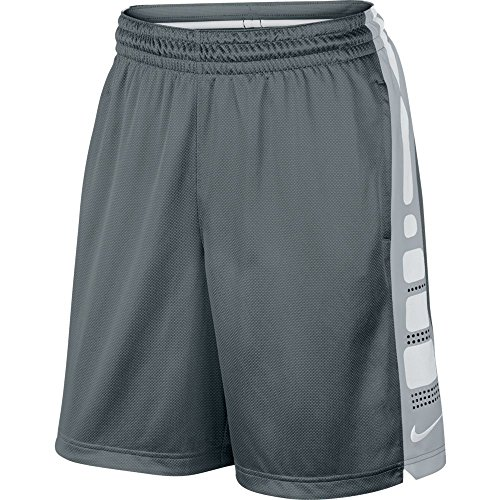 Nike Mens Elite Stripe Basketball Shorts Cool Grey/White, used for sale  Delivered anywhere in USA