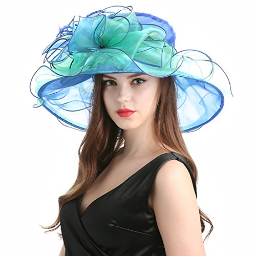 Women's Organza Church Derby Fascinator Cap Kentucky Tea Party Wedding Hat