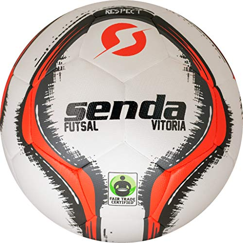 - Senda Vitoria Match Futsal Ball, Fair Trade Certified, Red/Grey, Size 4 (Ages 13 & Up)