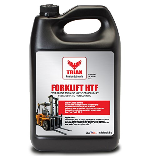 Triax MULTIPURPOSE FORKLIFT HYDRAULIC & TRANSMISSION OIL - Hydrostatic Transmission & Hydraulic Oil - Fits 99% of all forklifts - Synthetic Blend (1 gallon (pack of 1)) (Transmission Fork)