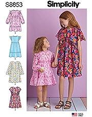 فستان بناتي موديل S8853HH من Simplicity US853