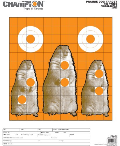 Champion Dog Target (Champion Large Animal Paper Prairie Dog Target (Pack of 12))