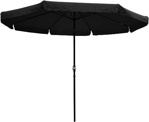 Yescom 10ft Special Valance UV 30 Metal Outdoor Patio Umbrella with Crank Tilt for Table Garden Deck Market Yard
