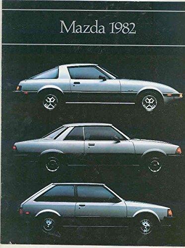 1982 Mazda Brochure RX7 GS GSL 626 Sport Coupe GLC Custom Sedan & Wagon