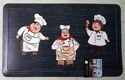 Amazon Com The Pecan Man Pvc 3 Fat Chefs Kitchen Rug Non Skid Back