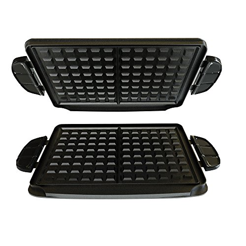 george-foreman-gfp84wp-evolve-grill-84-square-inch-waffle-plate-accessory-set-black