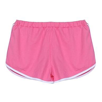 HARRYSTORE Mujer corto pantalones deportivos y elásticos de ...