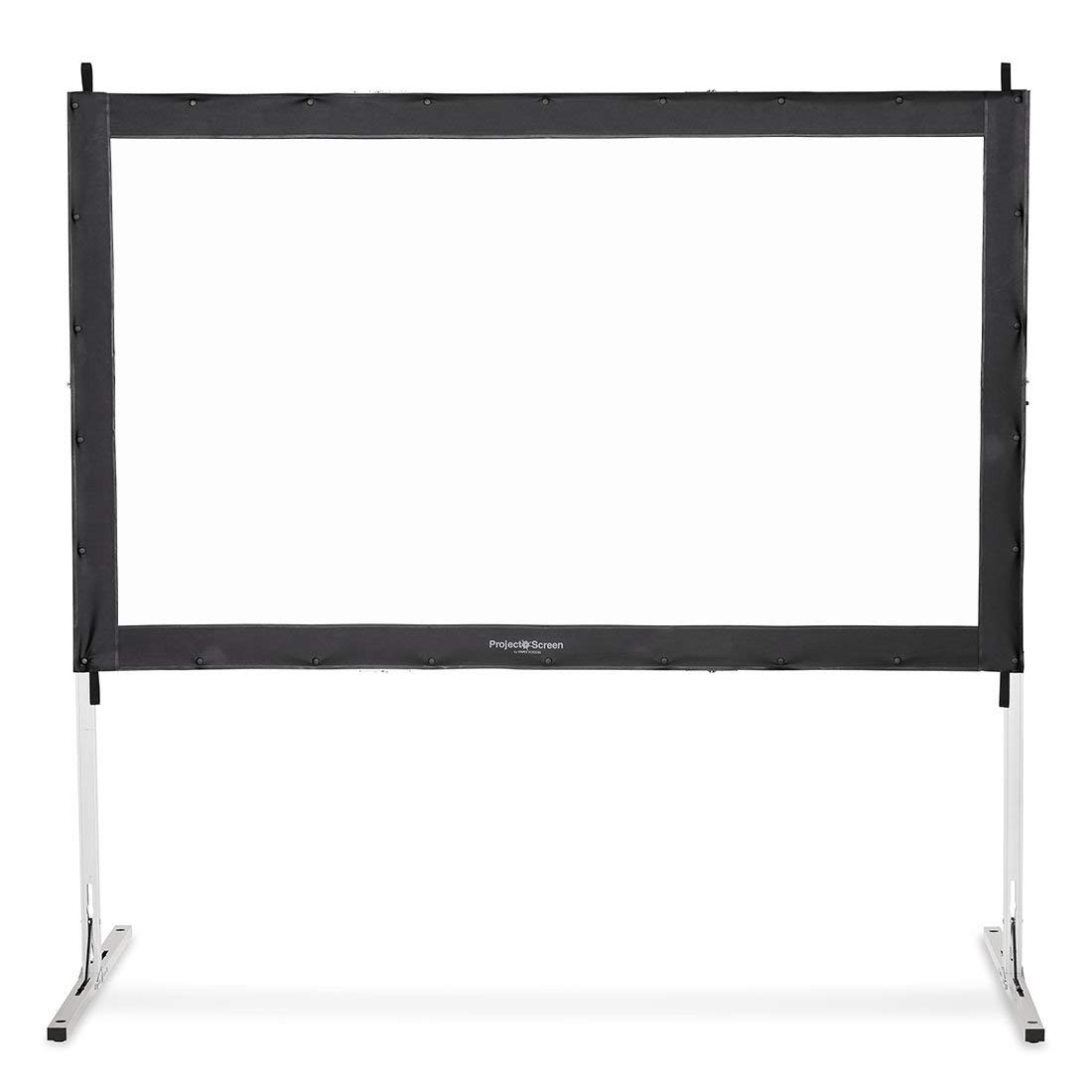 Visual Apex Projector Screen 144HD Portable Indoor/Outdoor Movie Theater Fast-Folding Projector Screen with Stand Legs and Carry Bag HD4K 16:9 Format (Renewed)