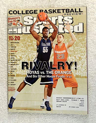 Roy Hibbert & Eric Devendorf - Rivalry! - Georgetown Hoyas vs Syracuse Orangemen - Regional Cover - Sports Illustrated - November 19, 2007 - College Basketball Preview - SI