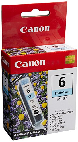 Canon BCI-6 Photo Cyan Ink Tank Compatible to iP8500, iP6000D, i9900, i9100, i960, i950, i900D, S9000, S900, S830D, S820D, S820, S800, BJC 8200