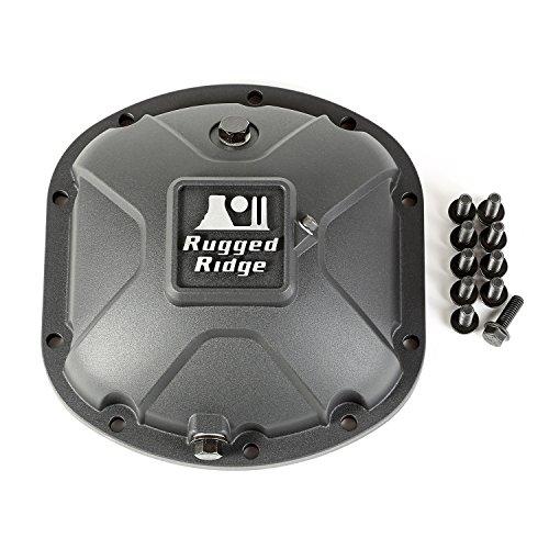 Rugged Ridge 16595.13 Black Boulder Aluminum Differential Cover for Dana 30 (Dana Differential 30)