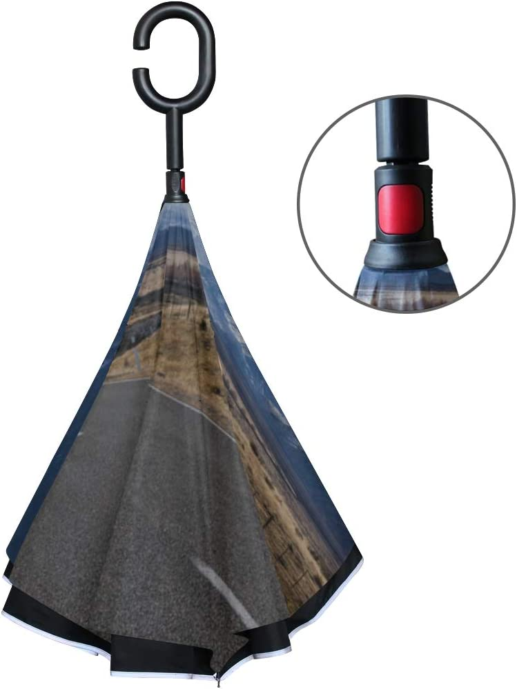 Double Layer Inverted Inverted Umbrella Is Light And Sturdy South Island Road Trip Photo Central Reverse Umbrella And Windproof Umbrella Edge Night R