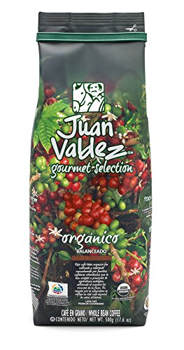 Juan Valdez Gourmand Balanced Colombian Coffee, Organic Whole Bean, 17.6 oz