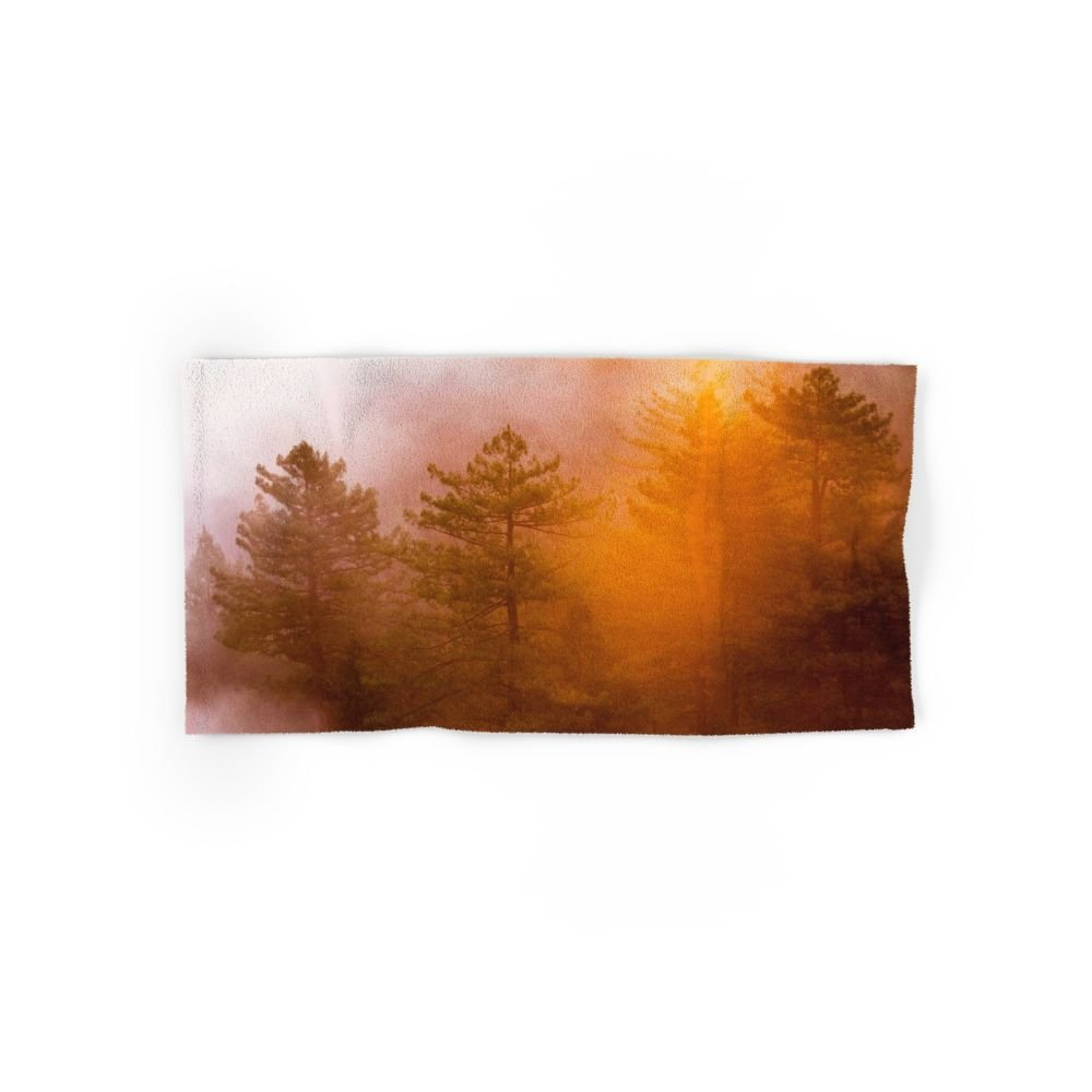 Society6 Golden Morning Glory Forest Hand Towel 30''x15''