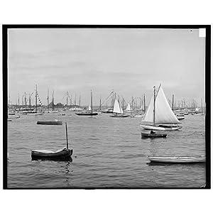 Photo: New York Yacht Nightspot,sailboats,ships,vessels,Marblehead,Massachusetts,MA,1890