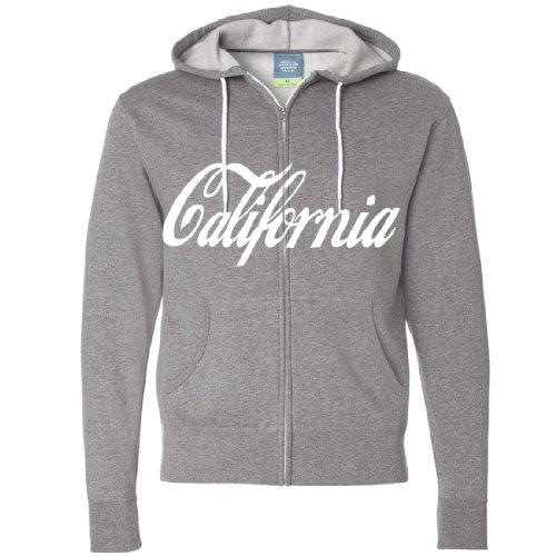 (Dolphin Shirt Co California Cola Zip-Up Hoodie - Gunmetal Heather X-Large)