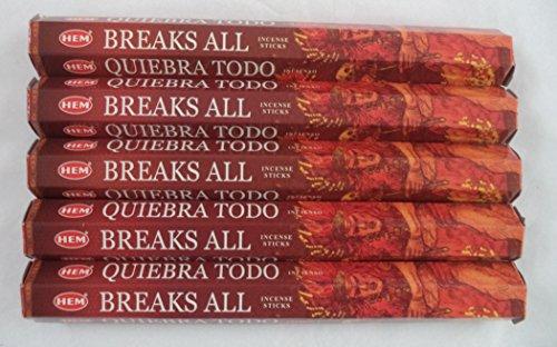 HEM Breaks All 100 Incense Sticks (5 x 20 stick packs)
