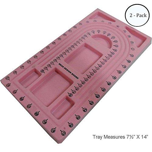 ToolUSA 14 X 7-1/2 Inch Pink Flocked Bead Board: TJ-21733