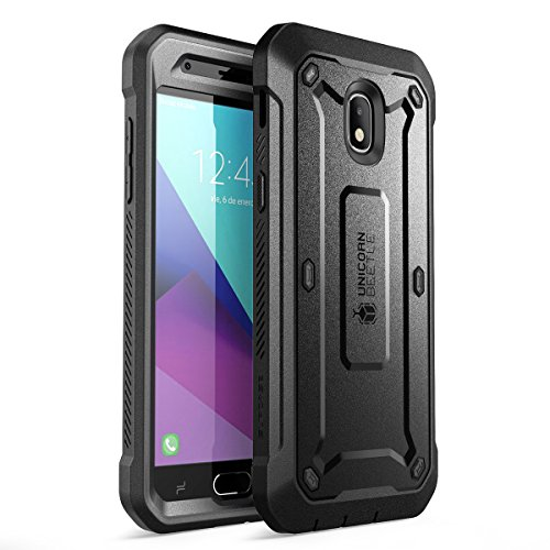 (SUPCASE Unicorn Beetle Pro Series Case for Samsung Galaxy J3 2018, Full-Body Rugged Holster Case with Built-in Screen Protector for Samsung Galaxy J3 Achieve (2018 Release/SM-J337)(Black) )