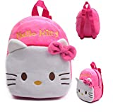 High Quality Rose Red Hello Kitty Plush Cartoon Toy Backpack Girl Character School Bag Gift For Kids Mochila Infantil infano donacon ludilo