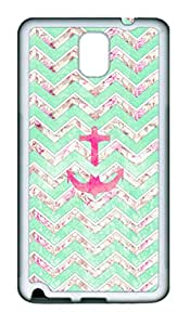 Samsung N9000 Cases & Covers Vintage Floral Girly Anchor Custom TPU Soft Case Cover Protector for Samsung N9000 ¡§C White