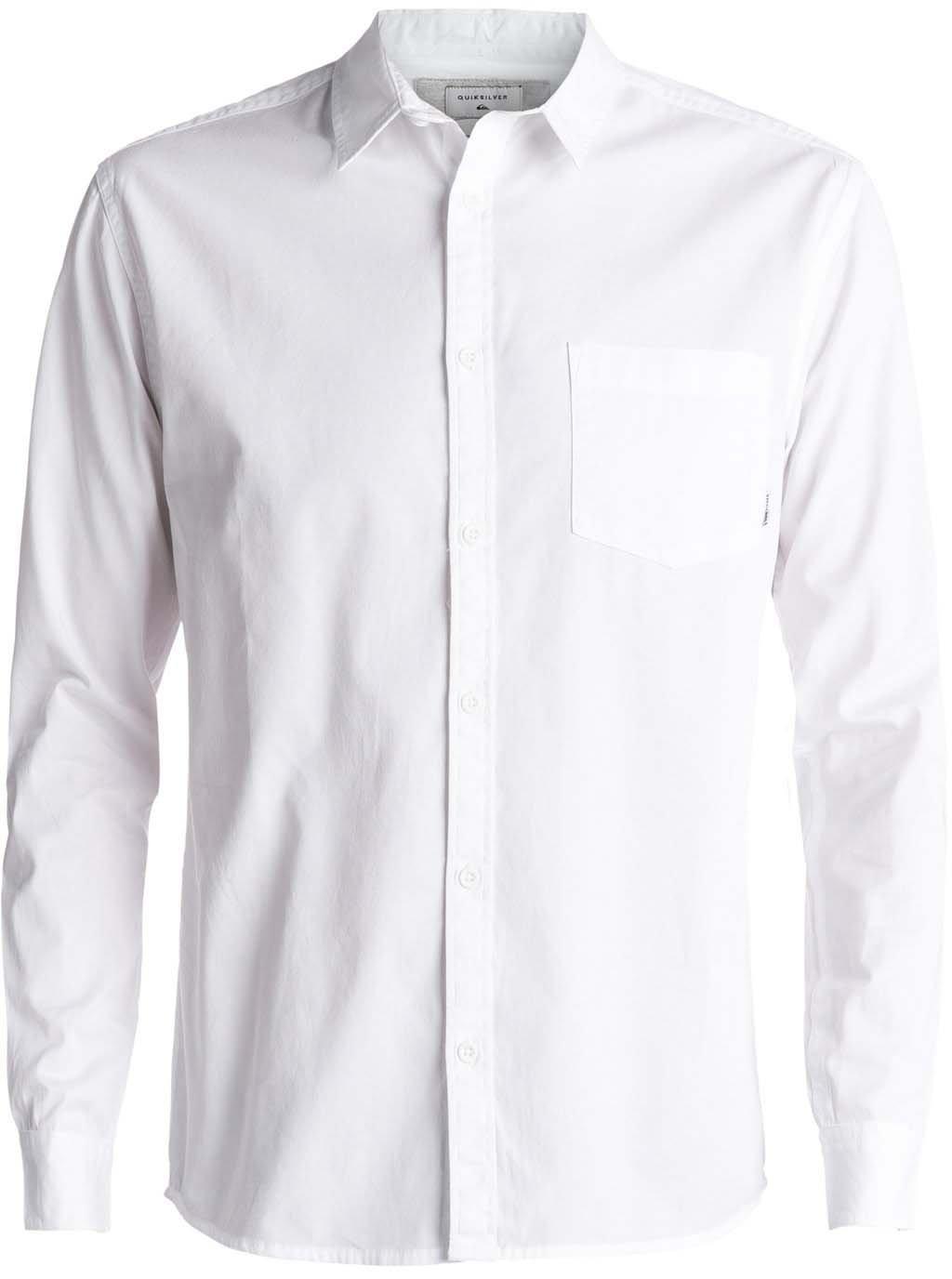 Quiksilver Men's Classics Ls Button Down Shirt, White, XL