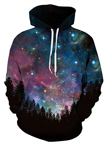 Price comparison product image Azuki Unisex Realistic 3D Print Pullover Hooded Sweatshirt Hoodies With Big Pockets - 48 Kinds Of Styles For Choose,  There's Always One Style You Like