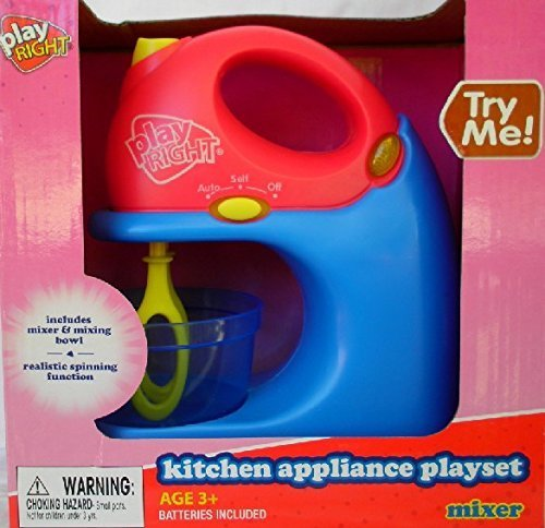 Play Right Kitchen Appliance Playset- Toy Mixer (Pretend Kitchen Mixer compare prices)