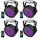 Black Light Baisun 36 UV LED Stage Lights By Remote And DMX Controller For Halloween Wedding Christmas Party (4 Pack)