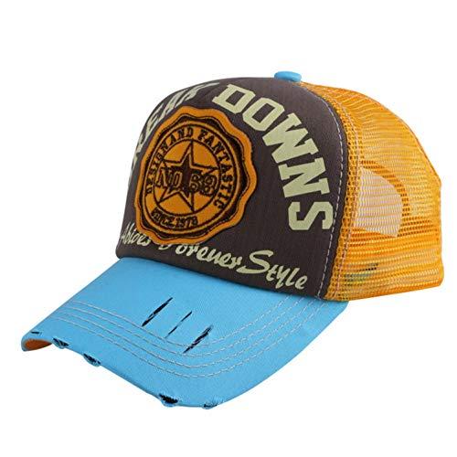 Wholesale caps Men Women Fashion Summer Baseball Cap Sunshade net mesh Style Letter Simple Sports hat Yellow