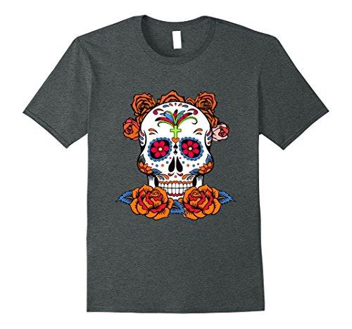 Mens Dia De Los Muertos The Day Of The Dead - Shirt T-shirt Top Small Dark Heather -
