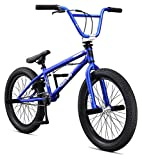 Mongoose Legion L20 Freestyle BMX Bike for Beginner Riders, Featuring Hi-Ten Steel Frame and Micro Drive 25x9T BMX Gearing with 20-Inch Wheels, Blue
