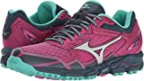 Mizuno Women's Wave Daichi 2 Trail Runner, Beetroot/Silver, 9.5 B US