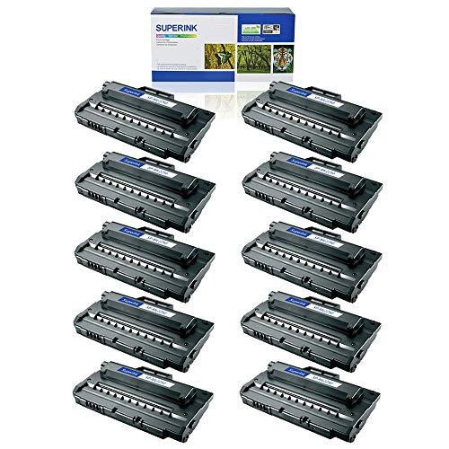 SuperInk 10 Pack High Yield Compatible Toner Cartridge Replacement for Samsung ML-2250 ML-2250D5 Black use in Samsung ML-2250 ML-2251N ML-2251NP ML-2251W ML-2252W Printer ()