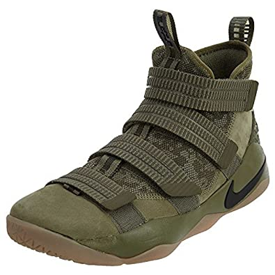 meet 820fc d5995 Nike Lebron Soldier XI SFG Men s Basketball Shoes Medium Olive Black, 11   Buy Online at Low Prices in India - Amazon.in