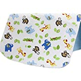 Changing Pad,Fairy Baby Baby Diaper Portable Travel Home Waterproof Urine Mat Pack of 1(Green Monkey,27.56''X31.50'')