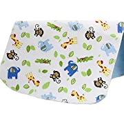 Changing Pad,Fairy Baby Baby Diaper Portable Travel Home Waterproof Urine Mat Pack of 1(Green Monkey,27.56 X31.50 )